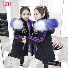 Coat Children's Parka Down-Jacket Printing Girls Autumn Winter Fashion LZH Cotton