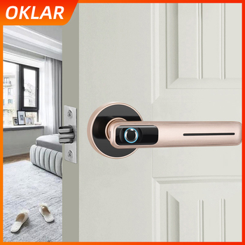 OKLAR Smart Fingerprint Door Lock Security Intelligent Electronic Lock With Key USB Charging Indoor lock For Home Hotel Office oklar electronic door lock biometric fingerprint lock zinc alloy smart knob deadbolt keyless indoor lock for home hotel office