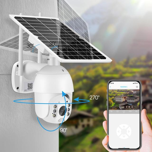 2MP IP Camera Solar Panel PIR Detection 1080P IR Vision With Battery For Long Standby 3