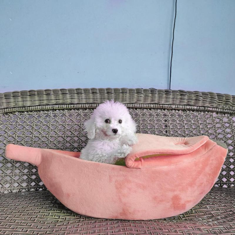 Banana Cute Dog Beds Pink