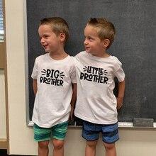 Short-Sleeve T-Shirt Sibling Funny Matching Toddler Boy Fashion Children Summer Casual
