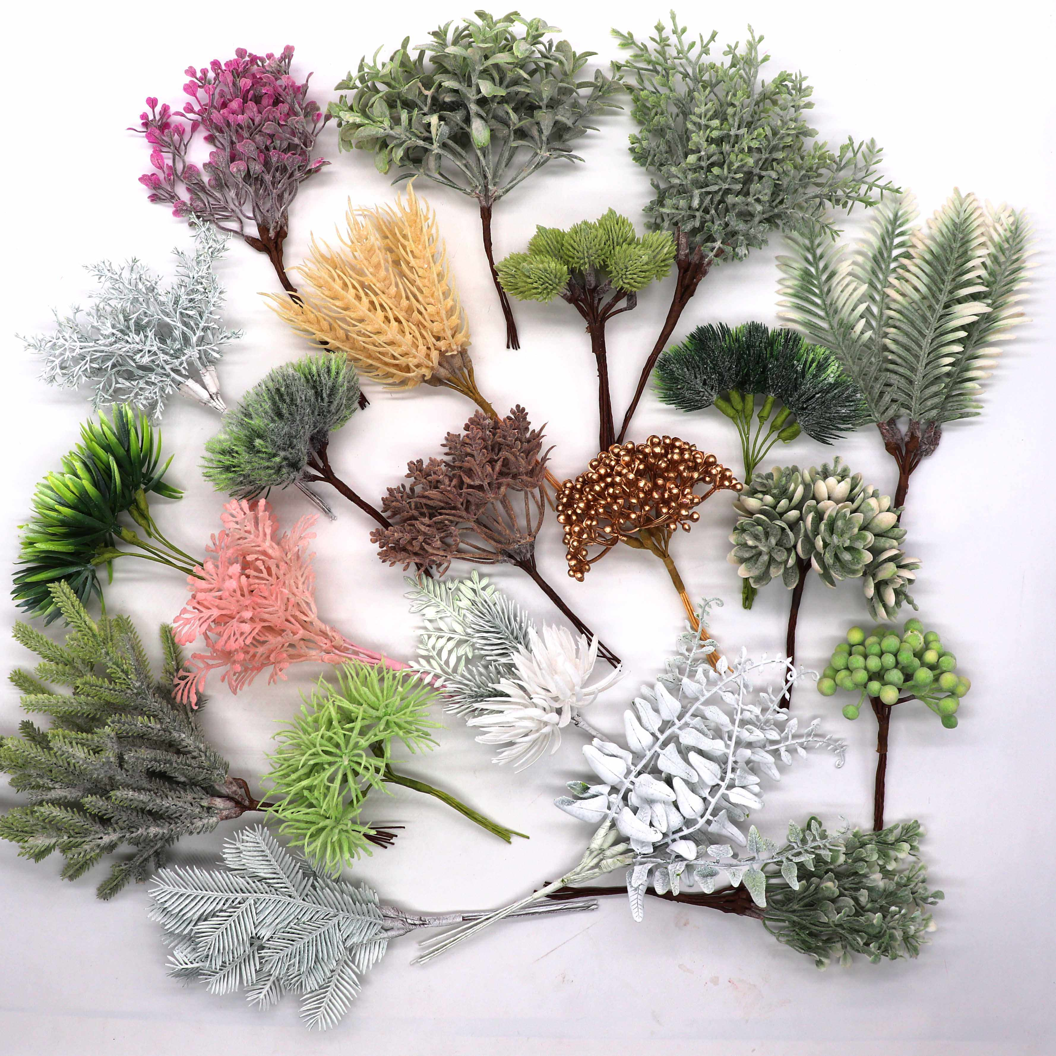 6 stuks kunstmatige plant gras bruiloft krans Kerst decoratie accessoires kunstbloemen