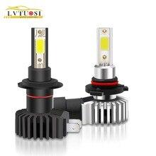 цена на LVTUSI  2PCS  LED H4 car headlight bulb LED H7 H1 H3 H4 H11 H8 H9 880 fog lamp 12V 10000LM lamp 6000K 10000K 9005 9006    CE