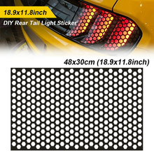 Car Honeycomb Headlight Sticker Taillight Decorative Cover Freely Cut Auto Styling Decal Honeycomb Protective Film 48*30cm
