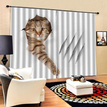animal curtains Luxury Blackout 3D Window Curtains For Living Room Bedroom Customized size stereoscopic curtains