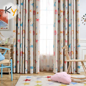 Curtain-Finished-Product Bedroom Cartoon Window-Rent Living-Room Girl Boy Environmental-Protection