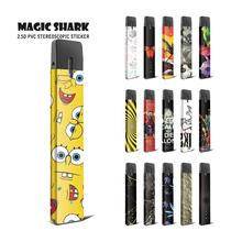 Magic Shark 2.5D Stereo Painting Dragon SpongeBob Stone Print Film Case Cover Sticker for Myle Vape Kit new smok slm stick thick vapor pod vape kit 250mah electronic cigarette kit small vape pen kit vs smok nord drag nano minifit