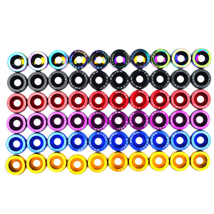 Image 4 - 10pcs M6 JDM Car Modified Hex Fasteners Fender Washer Bumper Engine Concave Screws Car styling