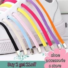 105cm 1Pair No tie Shoelaces Flat Elastic Shoe Laces For Kids and Adult Sneakers Shoelace Quick Lazy Laces Shoe strings Bold