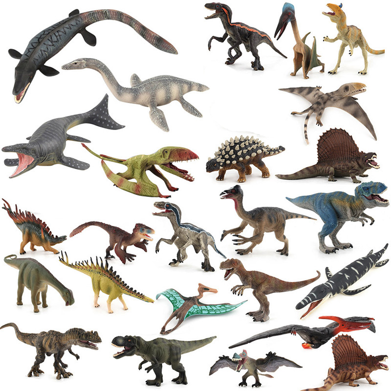 32 Kidns Simulation Dinosaur Figure Collectible Toys Plesiosaurus/Tylosaurus Animal Action Figures Kids Animal Sandtable Toy