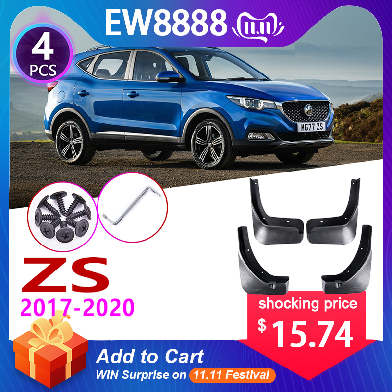 4 PCS Front Rear Car Mudflaps For MG ZS MGZS 2017 2018 2019 2020 Fender Mud Guard Flaps Splash Flap Mudguards Accessories
