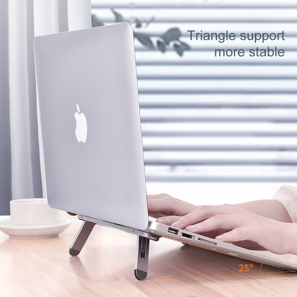 lowest price Oatsbasf Laptop stand suporte notebook tablet accessories macbook pro stand Mini Foldable laptop Portable holder Cooling stand