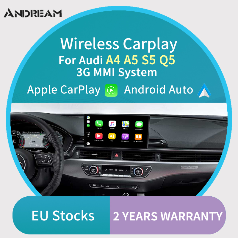 Wireless Carplay MMI Android Auto Interface box For AUDI A4 A5 Q5 S5 3G MMI system multimedia Original Screen Update(China)