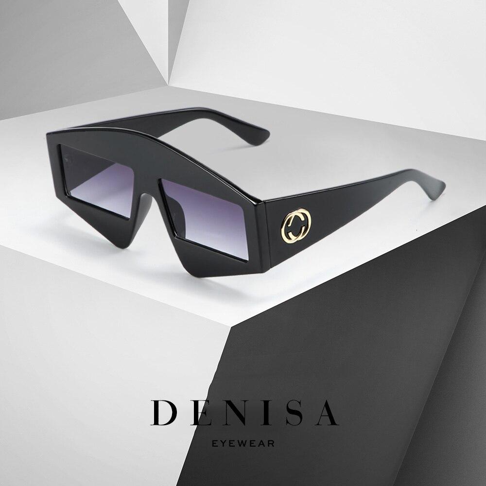DENISA Luxury Brand Designer Sunglasses Ladies Shield Style Oversized Sunglasses For Men Trendy Big Frame Glasses Shades G5726