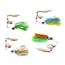 Spinner Angeln Köder Köder Löffel Bass Minnow Crank Popper Vib Spinnerbait Lockt Tackle Haken Angeln(China)