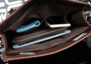 Image 5 - Bolsa masculina de couro pu, bolsa executiva casual masculina de alta qualidade feita em couro sintético de poliuretano com fecho