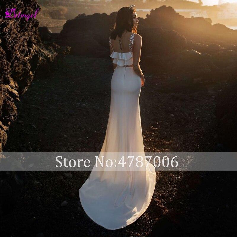 Detmgel Romantische Sweetheart Hals Plisse Mermaid Trouwjurk 2019 Graceful 2 Stuk Voor Splite Bohemian Bruidsjurk Plus Size - 2