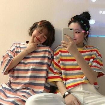 Woman Tie Dye Harajuku Funny Tshirt Summer poleras mujer de moda 2019 Hip Hop Tees Shirts