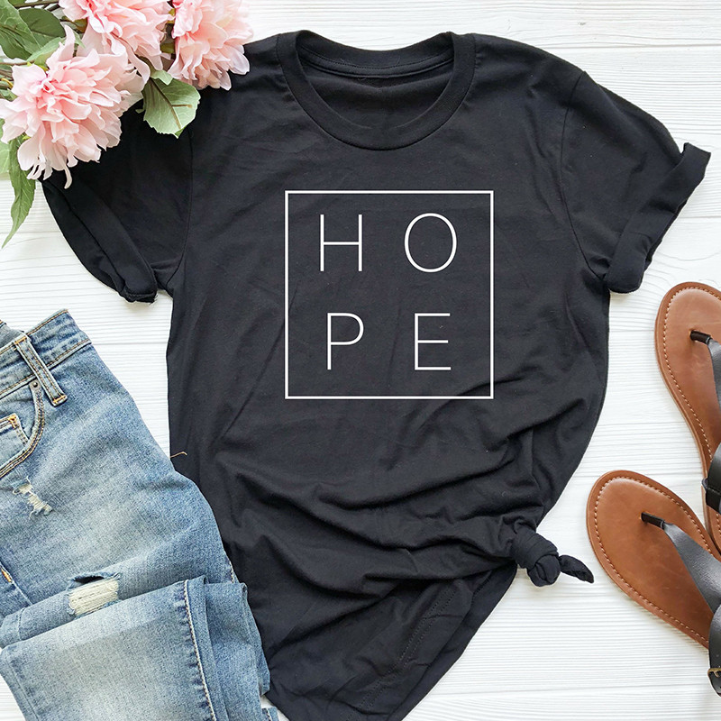 New Summer Women T Shirt Faith Hope Love Christian T-shirt Funny Christianity God Tee Gift Female Clothes