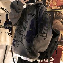 Oversized feminino e masculino hoodies pullovers hoodies moletom impressão anime com capuz streetwear tops roupas tamanhos grandes punk