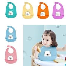 Детский нагрудник для кормления, слюнявчик, полотенце, Мультяшные силиконовые фартуки, регулируемый слюнявчик для новорожденных, бандана, нагрудники, Детский водонепроницаемый тканевый нагрудник