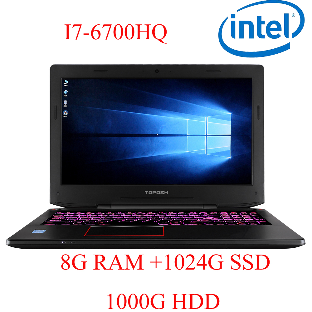 4G DDR4 RAM 1024G SSD 1000G HDD I7 6700HQ AMD Radeon RX560 NVIDIA GeForce 4G 15.6