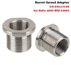Thread Adapter 5/8-24 to 1/2-28 Single Core Car Fuel Filter Black Titanium Tube For NaPa 4003 WIX 24003