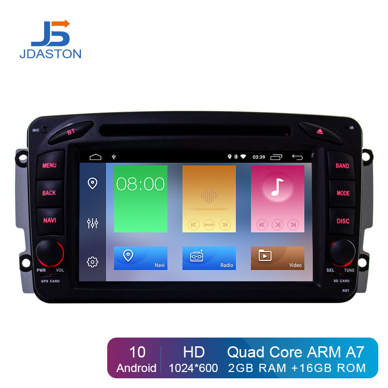 JDASTON Android 10 Car Multimedia Player For Mercedes Benz CLK W209 W203 W208 W463 Vaneo Viano Vito Car DVD GPS <font><b>2</b></font> <font><b>Din</b></font> Radio IPS image