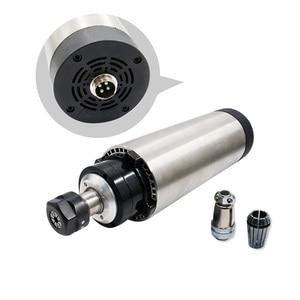 Image 3 - Livraison gratuite livraison rapide 1 ensemble 1.5 kw 110 v/220 v/380 V broche refroidie par air + VFD + 80mm support + 1 ensemble ER11 pour CNC