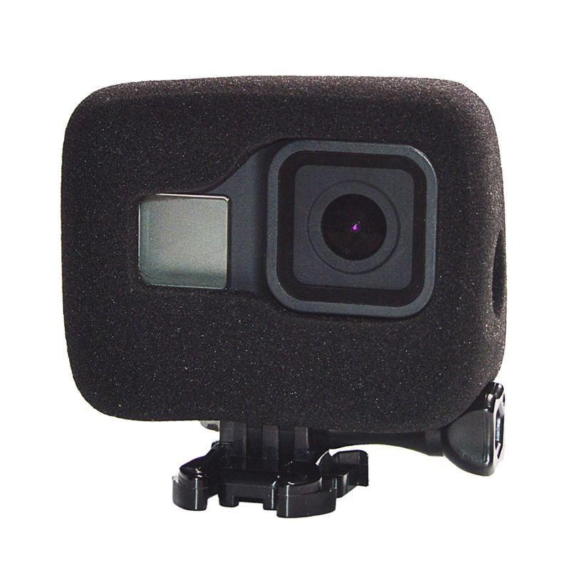 Windshield Wind Noise Reduction Sponge Foam Case Cover Housing for Go-Pro Hero 8 Sports Action Camera Accessories