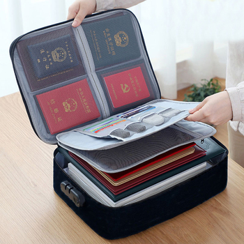 Multifunctional Briefcase Business Trip Certificate Organize Bag Office Document File Storage Handbag Package Goods Accessories green goods stone bracelet too send the certificate