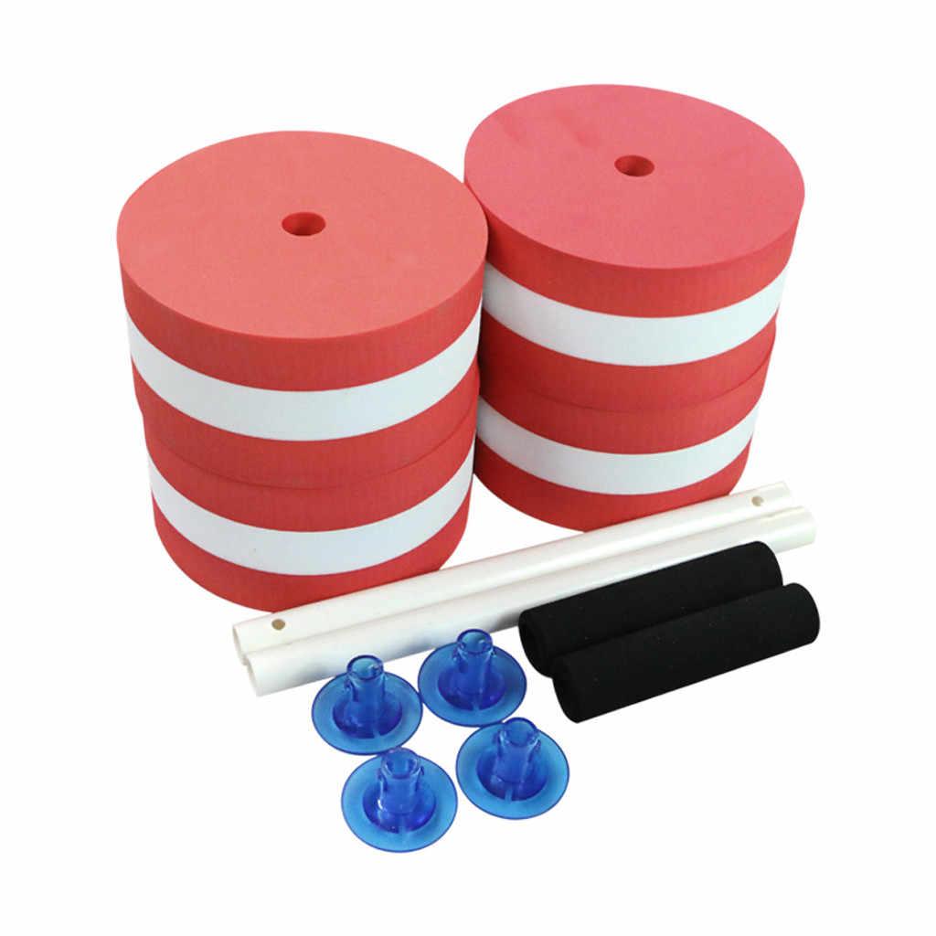 1 para wodnych Fitness sztanga z pianki hantle rąk Bar basen ćwiczenia odpinany ćwiczeń wodnych odpinany