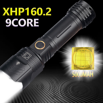 5000mAh Powerful Flashlight XHP160.2 LED XHP50.2 Waterproof IPX6 Zoom Torch 5Modes USB Rechargeable Lamp Use 18650/26650 Battery 1