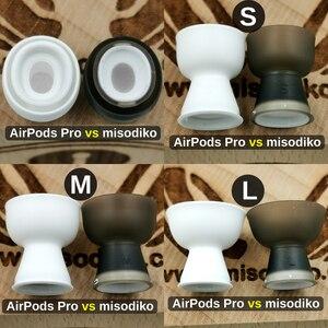Image 2 - Misodiko Bequem Weichen Silikon Earbuds Ohr Tipps für Apple AirPods Air Schoten Pro, ersatz Kopfhörer Eartips (Transparent Schwarz)