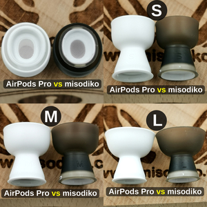 Image 2 - misodiko Comfy Soft Silicone Earbuds Ear Tips for Apple AirPods Air Pods Pro, Replacement Earphones Eartips (Transparent Black)