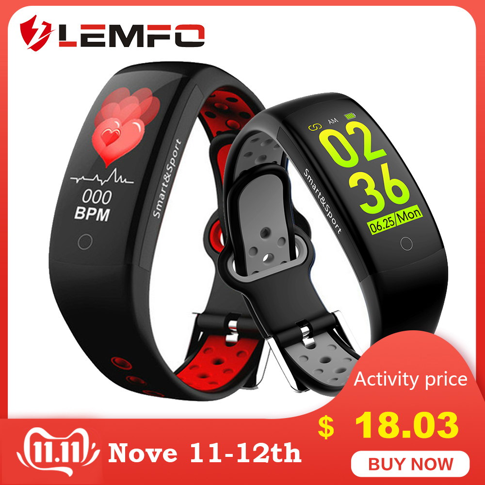 Fitness Bracelet IP68 Waterproof Dynamic Heart Rate Blood Pressure Monitoring LEMFO Fitness Tracker Smart Bracelet for Men Women