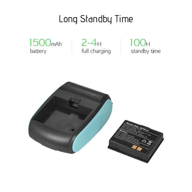 Wireless Mini 58mm Bluetooth Printer Portable Thermal Receipt Printer Mobile Phone Android iOS PC Pocket Bill Impresoras 5