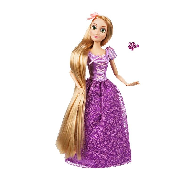 Nouveauté Original DISNEY magasin Rapunzel poupée nouvelle mode bébé poupée Figure jouets pour enfants anniversaire noël fille cadeau