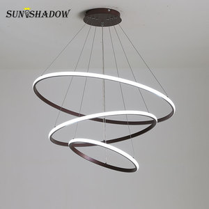 Image 3 - Luminaires Modern LED Chandelier White&Black&Coffee Lamps Led Ceiling Chandeliers Lighting For Living room Kitchen Dining room