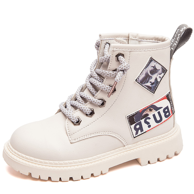 SKHEK Children Shoes Winter Warm Fur PU Leather Waterproof Children Boots Brand Boy Kids Rubber Boots Baby Girls Snow Boots