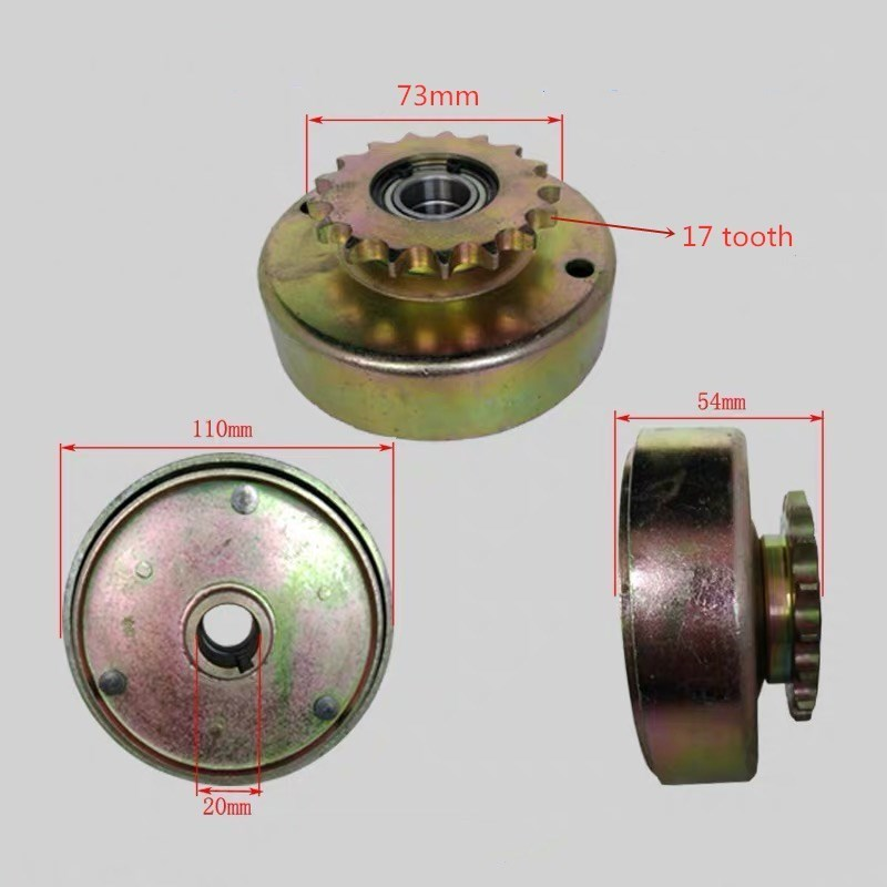 168F 170F GX160 Gasoline Engine Clutch 428 Gear Automatic Clutch For Go Kart Modification Agricultural Machinery Parts