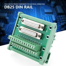 цена на DB25-M6 Double Female Head Interface Terminal Block Board Module DIN Rail Solderless Mount Terminal