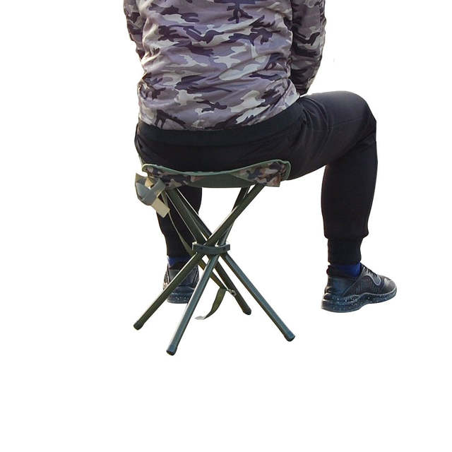Portable Folding Fishing Chair 300lbs Heavy Duty Camping Stool