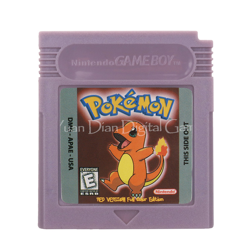 For Nintendo GBC Video Game Cartridge Console Card Poke Series Red Version Full Color Edition English Language Version image