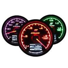 Greddi calibre turbo boost 7 cores claras display lcd com medidor de tensão corrida 62mm 2.5 Polegada r carro accessiores para turbo carro