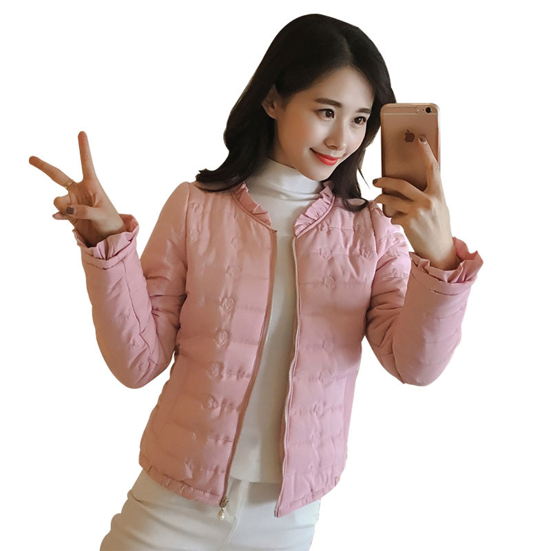 Short Coat Outerwear Parka Cotton Jacket Long-Sleeve Thin Female Autumn Plus-Size Winter Women