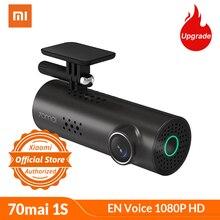 Xiaomi 70mai Автомобильный видеорегистратор 1S Smart WiFi-DVR 130 градусов Беспроводная камера 1080P HD ночная версия g-сенсор диктофон английский голос