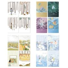 Buy 4pcs/set B5 Notebook Sketchbook Diary Planner for Drawing Painting Graffiti Line Inner Page Office School Supplies directly from merchant!