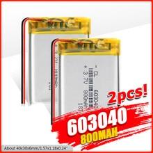 1/2/4 pièces 2019 nouveau 603040 Li Ion polymère 800mah batterie 3.7 V Rechargeable 800mah Lipo Batteries au Lithium avec Protection de carte Pcb