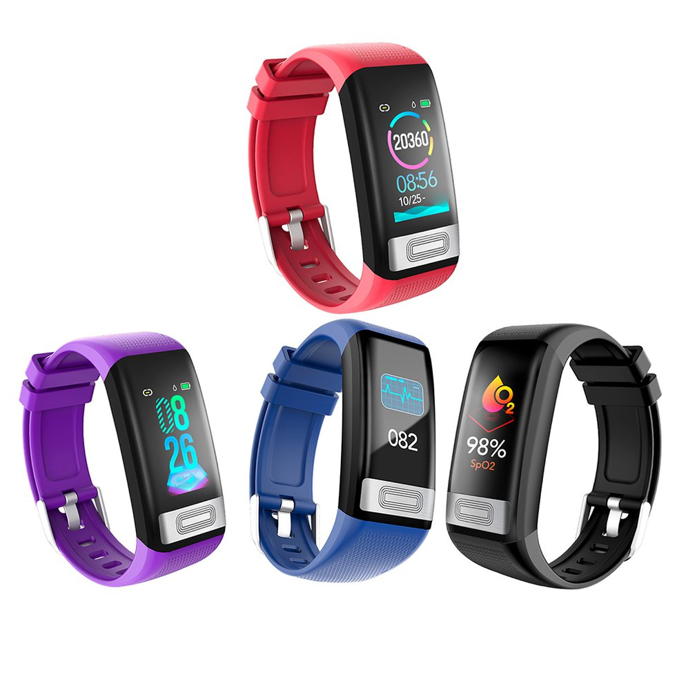Wristband Watch Fitness-Tracker Smart-Bracelet ECG Blood-Pressure Waterproof C20S IP67